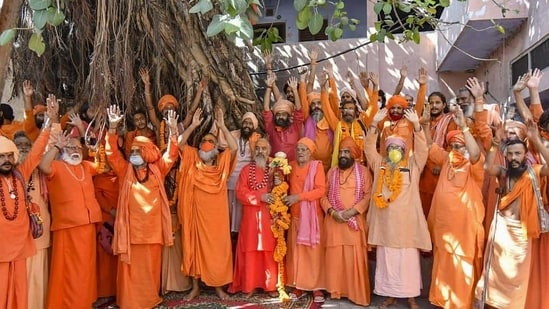 Samiti's general secretary Swami Jeetendranand Saraswati said serving of the IT notices was akin to humiliation and a conspiracy against seers..(Representational Photo/PTI)