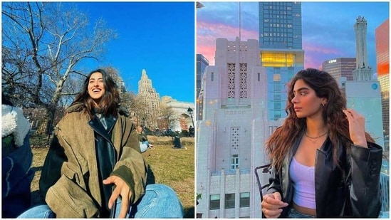 Navya Naveli Nanda and Khushi Kapoor are in New York.