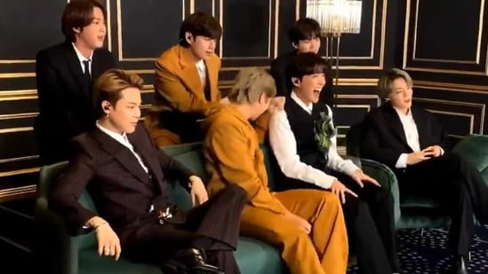 BTS shared a video of the moment they lost the Grammy award to Lady Gaga and Ariana Grande.