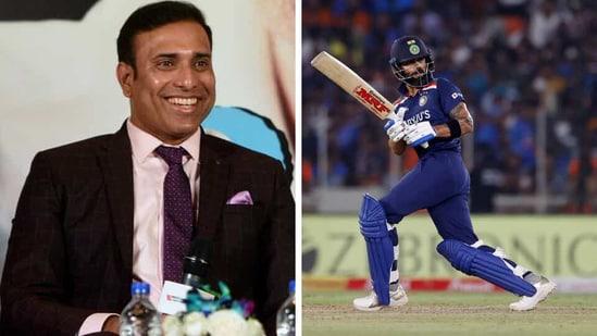 VVS Laxman and Virat Kohli.(HT/Reuters)