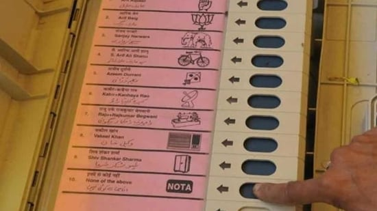 In Goa, 1.2% of the people voted for NOTA (None of the Above)(HT Photo)