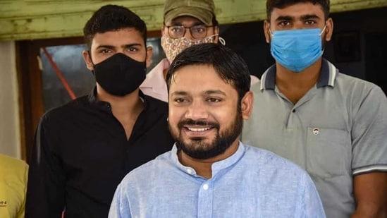 Kanhaiya Kumar reached the Patiala House court on Monday. (PTI File Photo )
