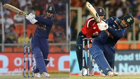 Ishan Kishan (L) and Rishabh Pant during 2nd T20I against England. (BCCI)