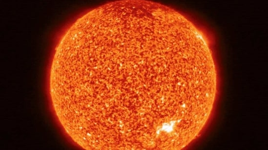 This photograph released by the European Space Agency (ESA) on July 16, 2020, shows an image of the Sun, roughly halfway between the Earth and the Sun, taken by Extreme Ultraviolet Imager (EUI) and Polarimetric and Helioseismic Imager (PHI) instruments onboard Solar Orbiter spacecraft on May 30, 2020.(AFP/For Representative Purposes)