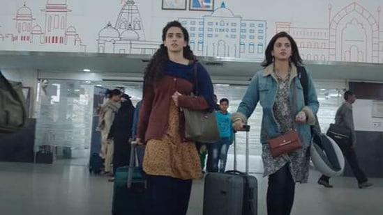 Sanya Malhotra in Netflix's Pagglait.