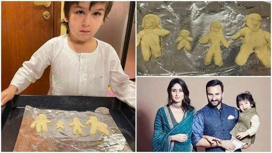 Taimur Ali Khan baked some adorable cookies.