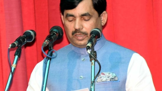The BJP is firmly against those who insult any religious texts, senior BJP leader Syed Shahnawaz Hussain said.(ANI)