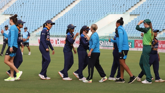 South Africa women defeat India women by 5 wickets in the final T20I, clinch series 4-1(BCCI Women / Twitter)