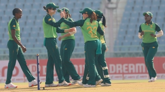 South Africa Women in action against India Women in Lucknow