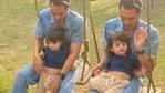 Arjun Rampal with son Arik.