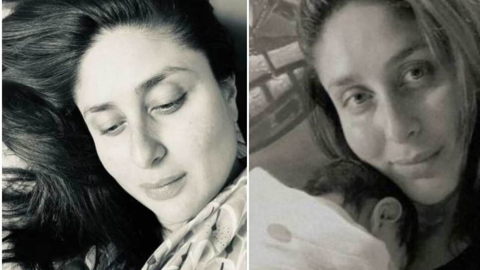 Kareena Kapoor can't stop staring at her newborn baby. Check out her new pic - Hindustan Times