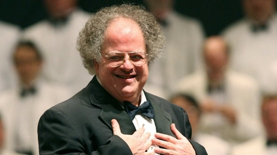 Boston Symphony Orchestra music director James Levine appears during a performance at Tanglewood in Lenox, Mass., on July 7, 2006. Levine, who ruled over the Metropolitan Opera for 4 1/2 decades before being eased out when his health declined and then fired for sexual improprieties, died March 9, 2021 in Palm Springs, Calif., of natural causes, his physician of 17 years, Dr. Len Horovitz, said Wednesday, March 17. He was 77. (AP)