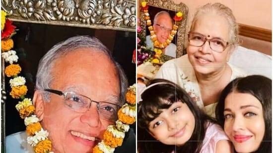 Aishwarya Rai's father Krishnaraj Rai died in March 2017.