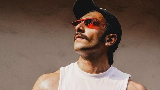 Ranveer Singh showed off his chiselled body in new pics.