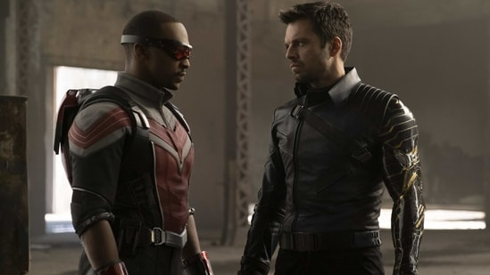 The Falcon and the Winter Soldier review: Anthony Mackie and Sebastian Stan in a still from Marvel's new Disney+ show.