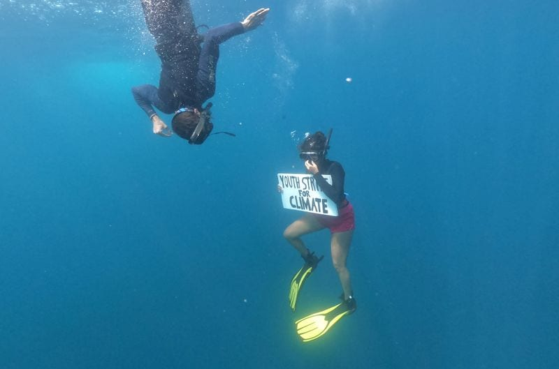 Underwater Protest For Conservation