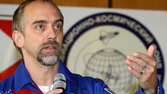 US space tourist Richard Garriott speaks during a news conference at Star City outside Moscow, October 27, 2008. (REUTERS)