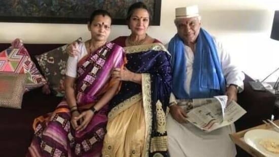 Shabana Azmi and Javed Akhtar in their recent picture.