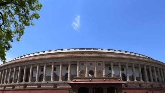 Parliament building in New Delhi
