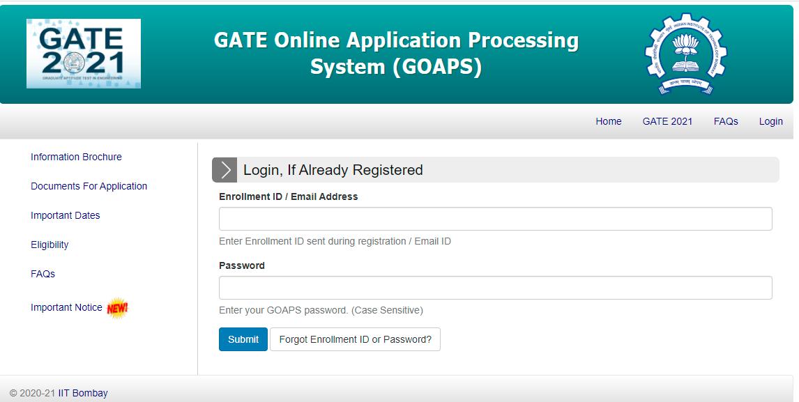 GATE 2021 results declared(appsgate.iitb.ac.in)