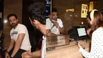 Emraan Hashmi and John Abraham sold tickets at a ticket counter.