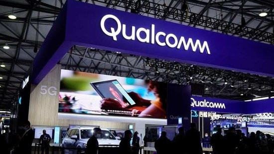 FILE PHOTO: People visit a Qualcomm booth at the Mobile World Congress (MWC) in Shanghai, China February 23, 2021. REUTERS/Aly Song(REUTERS)