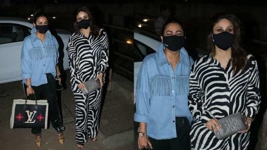 Amrita Arora and Kareena Kapoor were spotted on Friday.