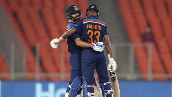 India captain Virat Kohli with Hardik Pandya.(AP)