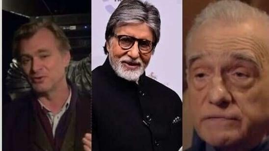 Martin Scorsese and Christopher Nolan present FIAF award to Amitabh Bachchan.