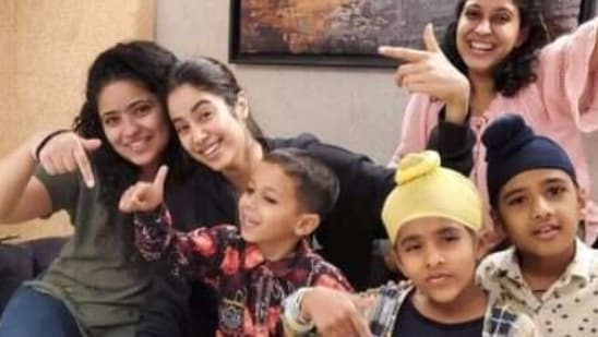 Janhvi Kapoor announces wrap of Good Luck Jerry with a set of new pictures.