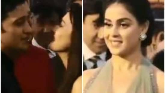 Genelia D'Souza had shared a humorous video of herself, jealous at husband Riteish Deshmukh's affection for Preity Zinta.
