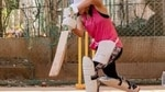 Taapsee Pannu practises her cover drive.