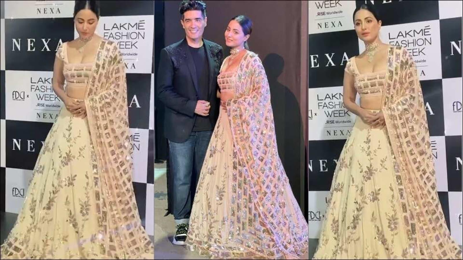 LFW 2021: Hina Khan looks straight out of a fairytale in Manish Malhotra lehenga