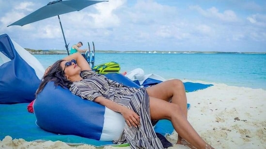 Priyanka Chopra has shared a throwback picture from her Bahamas vacation.