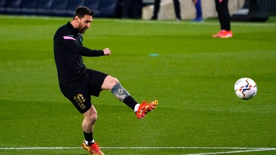 Record-breaking Messi scores twice as Barcelona hammer Real Sociedad 6-1 |  Hindustan Times