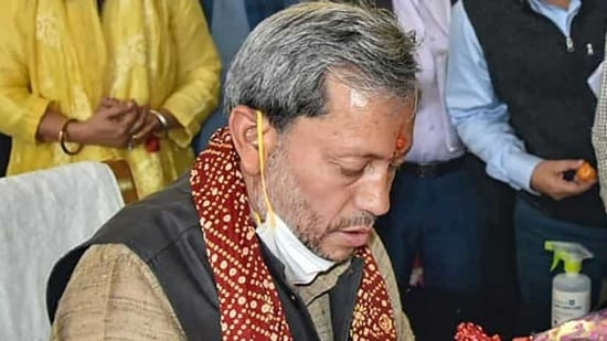 Uttarakhand chief minister Rawat urged people he met in the last few days to get tested for Covid-19. (PTI Photo)