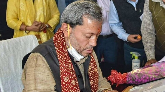 Rawat was due to meet Prime Minister Narendra Modi in Delhi this week, but the trip was called off after he contracted the contagious pathogen.(PTI file photo)