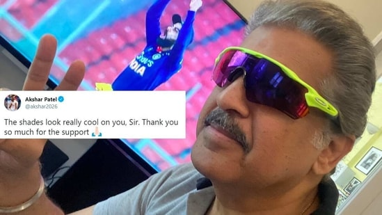 Axar Patel's tweet to Anand Mahindra has collected many likes on Twitter. (Twitter)