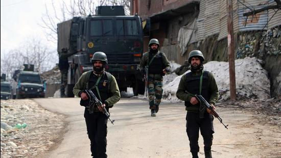The encounter at Manihal village in Kashmir's Shopian district began early Monday morning. (Representational Photo/ANI)