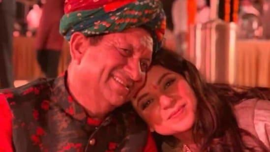 Kangana Ranaut with her father Amardeep Ranaut.