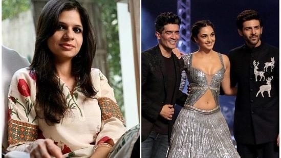 Saba Ali Khan called a picture of Kartik Aaryan and Kiara Advani walking the ramp at Lakme Fashion Week 2021 'stunning'.