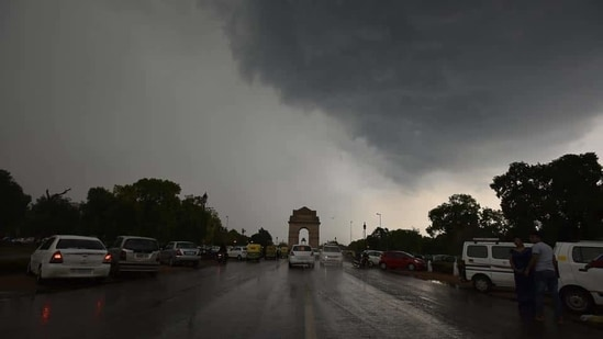 Delhi is likely to receive light to moderate rainfall on Monday coupled with thunder and dust storms.(Representational/ HT Photo/ Raj K Raj)