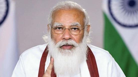 Prime Minister Narendra Modi during launch of 'Catch the Rain' campaign, via video conferencing on Monday. (PTI)