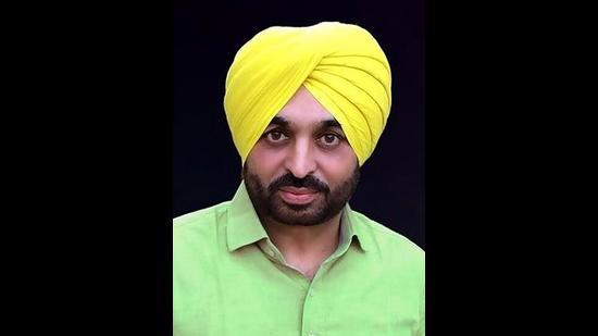 AAP MP from Punjab's Sangrur Bhawant Mann. (HT File)
