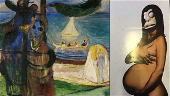 Artworks including Picasso silverware, Banksy's parody canvas up for auction(Twitter/Pub_Hist/posterdeal)