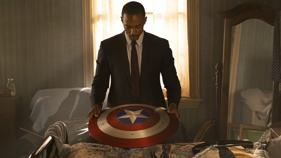 Anthony Mackie in a still from The Falcon and the Winter Soldier.