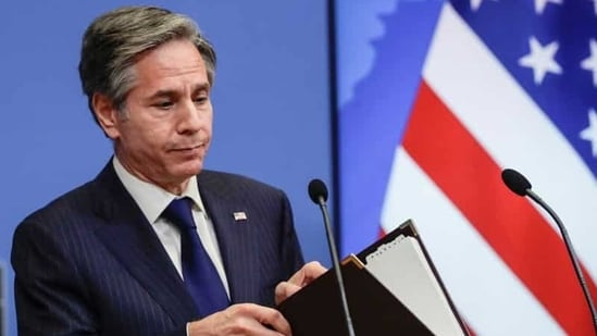 """""""When we are acting together, we are much stronger and much more effective than if any single one of us is doing it alone,"""" US Secretary of State Antony Blinken said.(Reuters)"""