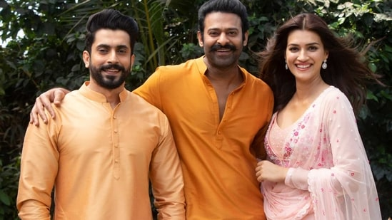 Kriti Sanon and Sunny Singh with Prabhas for Adipurush,