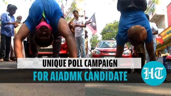 Yoga instructor campaigns for AIADMK candidate
