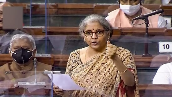 """""""Through the government amendment... I intend to clarify that this equalisation levy is not applicable on consideration for goods which are owned by Indian residents,"""" Finance Minister Nirmala Sitharaman had said why replying to a debate Finance Bill 2021 in Lok Sabha on Tuesday.(PTI)"""